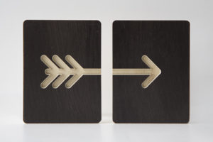 Wooden Arrow Tiles from One Two Tree Designs