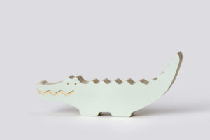 Wooden Crocodile Decor from One Two Tree