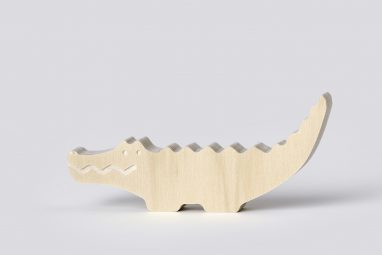 wooden crocodile decor