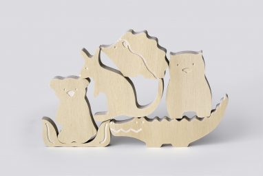 Wooden Australian Animal Toys Set