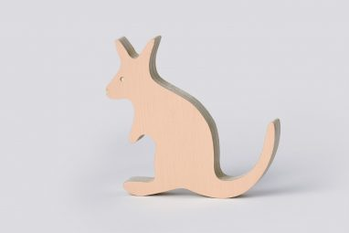Wooden Kangaroo Decor One Two Tree