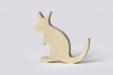 wooden kangaroo decor