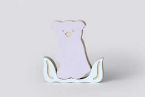 Koala Wooden Decor in Lilac from One Two Tree