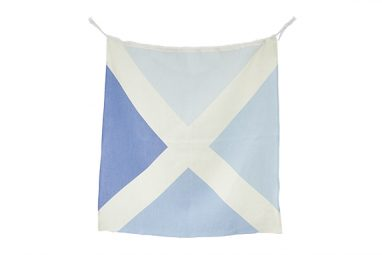 Linen Nautical Flag M2 from One Two Tree