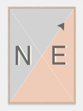Compass Art Print NE from One Two Tree