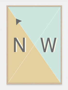 Compass Art Print NW from One Two Tree