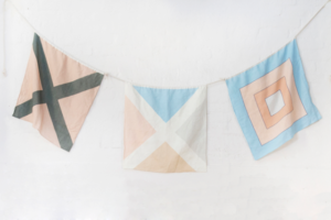 Linen Nautical Maritime Signal Flags from One Two Tree Designs
