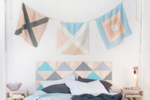 Linen Nautical Flags Hanging on a Wall from One Two Tree Designs