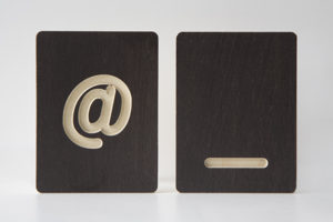 Underscore and At Sign Wooden Tiles from One Two Tree Designs