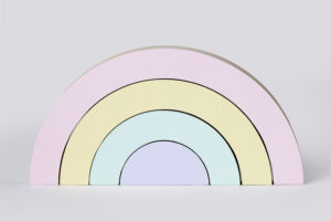 Wooden Rainbow Set in Pastel from One Two Tree