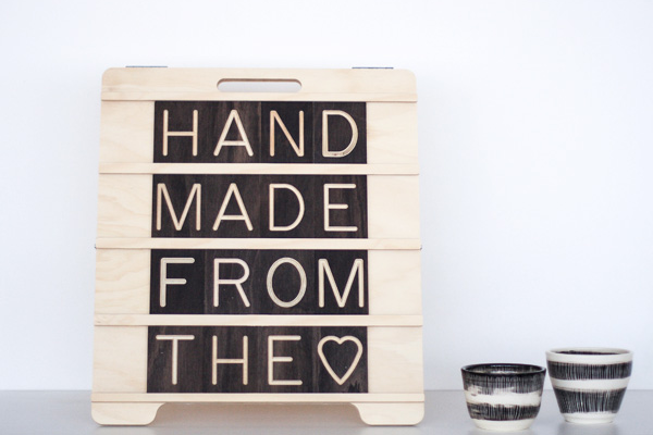 Hand Made From the Love - Mini Sandwich Message Board from One Two Tree Designs