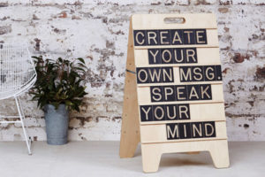 Custom Large Sandwich Wooden Message Board from One Two Tree