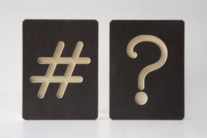 Question Mark and Hash Sign Wooden Tiles from One Two Tree Designs