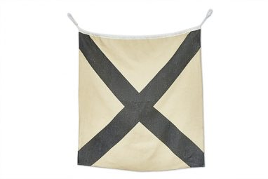 Linen Nautical Flag V2 available at One Two Tree