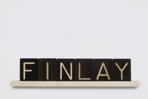FINLAY Wooden Letter Tile and Slider from One Two Tree Designs