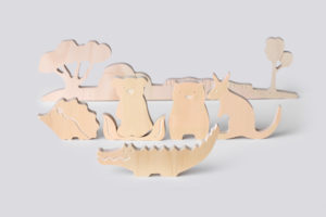 Australian Landscape and Native Animals Wooden Toy Set for Kids from One Two Tree Designs