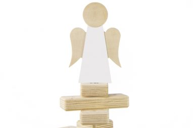 Christmas Tree Topper Angel - Wooden Tree Decoration by One Two Tree Designs