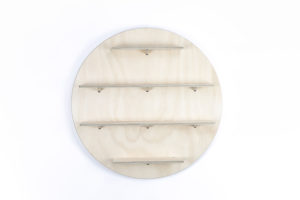 Wooden Circle Wall Shelf from One Two Tree Designs