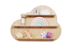 Dreamy Cloud Wall Shelf Treasure Board with Kids Toys