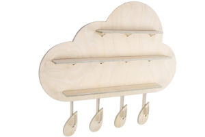 Wooden Rainy Cloud Wall Shelf from One Two Tree Designs