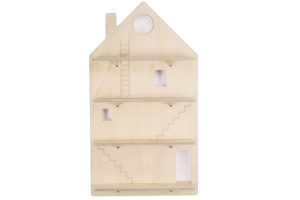 Wooden Play House Wall Shelf Treasure Board from One Two Tree Designs