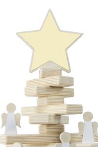 Wooden Christmas Tree Star Topper and Angel Ornament