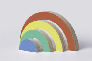 Wooden Rainbow Stacker Toy - By One Two Tree Designs