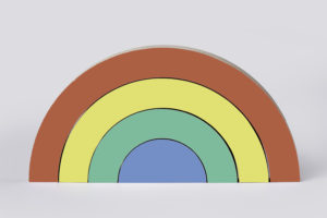 Wooden Rainbow Stacker Set - By One Two Tree Designs