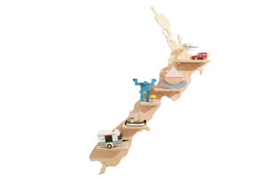 New Zealand Treasure Board with Kids Toys - NZ Wall Shelf by One Two Tree Designs