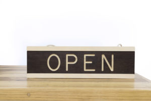 Wooden Open/Closed Sign - One Two Tree Designs
