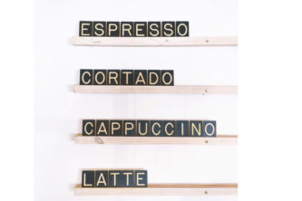 Custom Wall Menu Board Letters - Coffee Shop