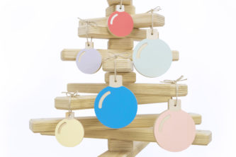 Wooden Bauble Set (hanging)