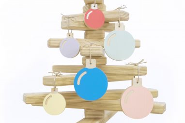 Wooden Bauble Set in Christmas Tree - Baubles Tree Hanging Ornaments by One Two Tree Designs