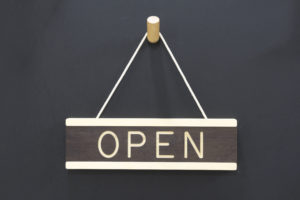 Open-Closed Sign Wall Hanging - Wooden Signs by One Two Tree Designs