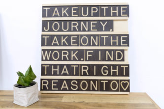 Wooden Message Board 9x6 - Wall Decoration Art by One Two Tree Designs