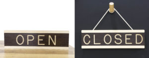 Open/Closed Wooden Hanging Signs - One Two Tree Designs