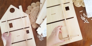 Wooden Playhouse Treasure Board Assembly - Wall Shelves by One Two Tree Designs