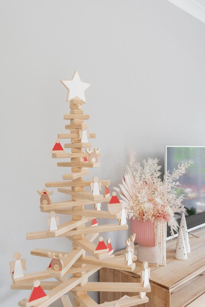 Modern Design Wooden Christmas Trees by One Two Tree Designs